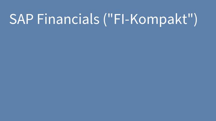 SAP Financials (