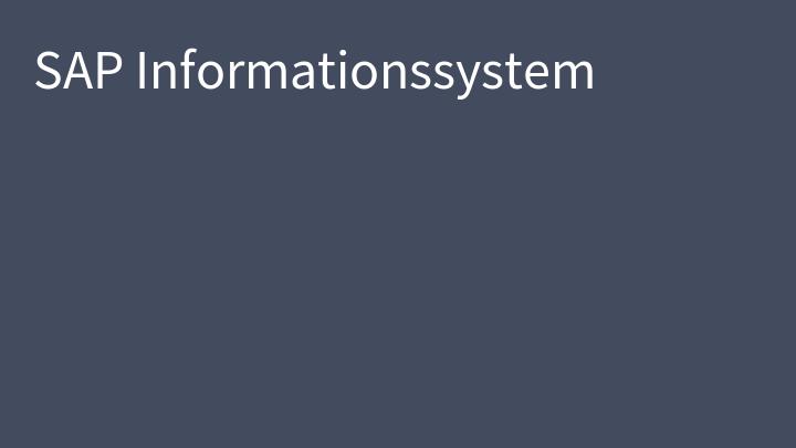 SAP Informationssystem