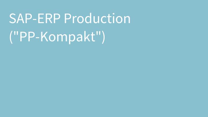 SAP-ERP Production (