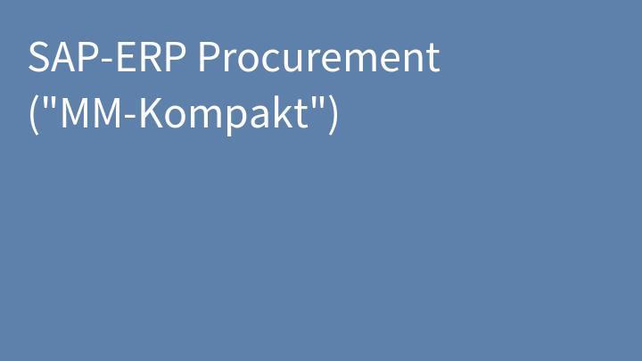SAP-ERP Procurement (