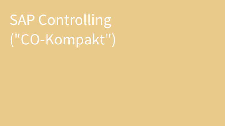 SAP Controlling (