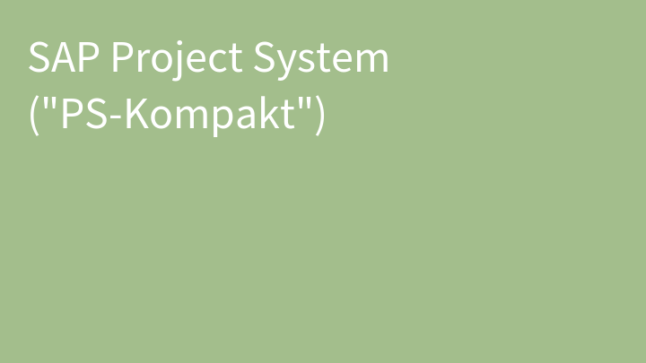 SAP Project System (