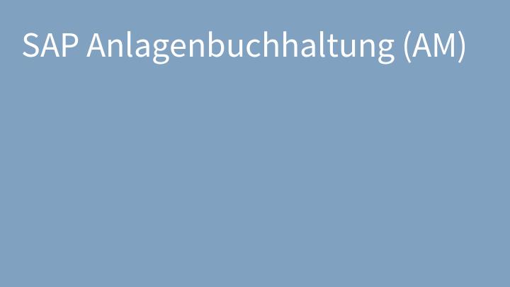 SAP Anlagenbuchhaltung (AM)